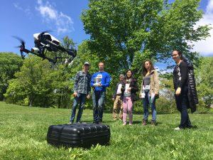 Professor Travis Fox leads a workshop on using drones for journalism.