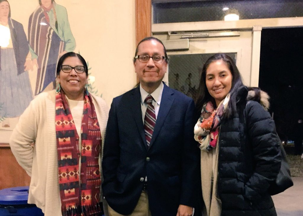 Director of Admissions Colleen Leigh (right) attended the 120th anniversary celebration of The Indian Leader, the student newspaper at Haskell Indian Nations University in Lawrence, KS, with HINU journalism professor Rhonda Levaldo and Kevin Abourezk, managing editor of Indianz.com, a news site run by the Winnebago Tribe of Nebraska.