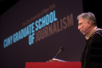 Keynote Speaker Marty Baron, Executive Editor of The Washington Post at the December 2016  commencement ceremony.