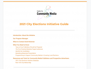 2021 City Elections Initiative Guide first page