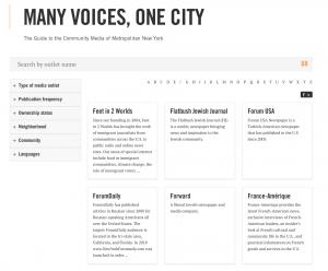 NYC community media directory