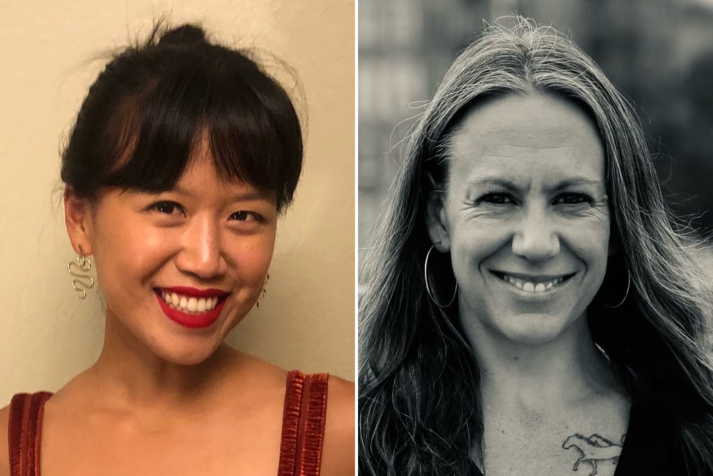 Yvonne Leow (left) and Hillary Frey